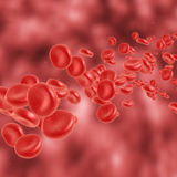 Red blood cell flowing Royalty Free Stock Image