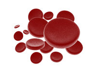 Red blood cells. 3d rendered illustration of red blood cells isolated on white - high res Stock Images