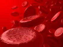 Red Blood Cells. Vision of the red blood cells inside of the artery Stock Photos
