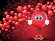 Red blood cells. Funny illustration of red blood cells stock illustration