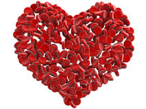 Red blood cells heart Stock Photos