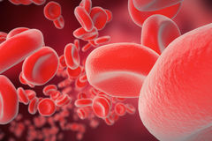 Red blood cells: responsible for oxygen carrying over, regulation pH blood, a food and protection of cages of an. Organism, 3d rendering Stock Photography