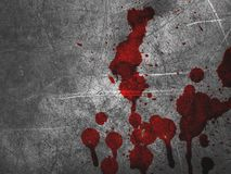 Red blood on cement wall texture. Art red blood on cement wall texture Royalty Free Stock Photos