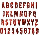 Red blood drip  textured alphabet. Red blood drip / horror   textured alphabet - PNG transparent image available to download Stock Photos