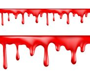 Red blood drips seamless patterns Stock Images