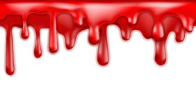 Red blood drips seamless patterns Royalty Free Stock Photography