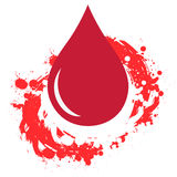 Red Blood drop Stock Photo