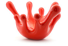 Red blood drops. Ceramic sculpture. Royalty Free Stock Photo