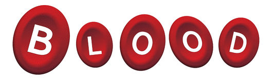Red blood group Royalty Free Stock Photography