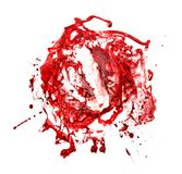 Red blood ink stain with . texture for design. Valentine day, wedding, save date card. stock photos