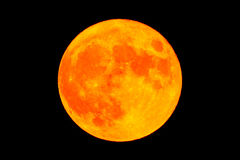 Red blood moon Full moon Stock Photo