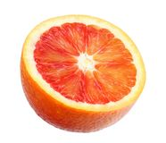Red blood orange fruit with slices isolated on white background stock image