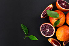 Red blood oranges Stock Photos