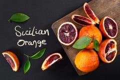 Red blood oranges Royalty Free Stock Image