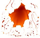 Red Blood Paint Splash. Isolated on White Background royalty free stock photos
