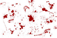 Red Blood Spill. Abstract Blood Splatter Background, Red Splash On White Background Royalty Free Stock Photography