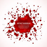 Red blood splash vector abstract background Royalty Free Stock Photography