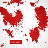 Red blood splatter stain collection Stock Photography