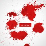 Red blood splatter set Stock Photography