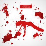 Red blood stain splatter set Royalty Free Stock Photography