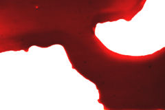 Red blood on white Royalty Free Stock Photo