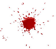 Red blot. Of watercolor paint (blood royalty free stock photo