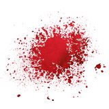 Red blot isolated Royalty Free Stock Image