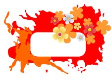Red blots frame Stock Image