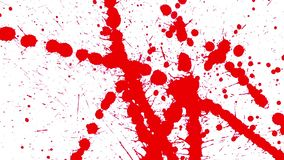 Red blots splashing on blank background. Red blots splashing on blank white background - bloody splashes stock video