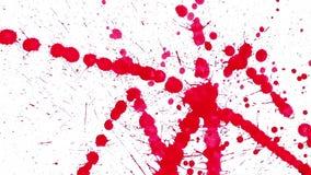 Red blots splashing on blank paper stock illustration