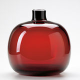 Red blown glass vase Royalty Free Stock Photography