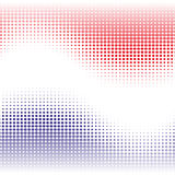 Red and blue abstract background with halftone effect waves Royalty Free Stock Image