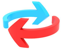 Red and blue arrows Stock Photography