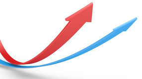 Red and blue arrows Stock Image
