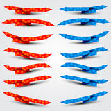 Red and blue arrows Royalty Free Stock Photos