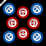 Red and blue arrows - in eight directions Royalty Free Stock Image