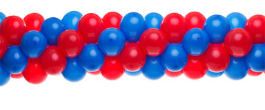 Red and Blue balloons. Red and Blue balloon background at a party Royalty Free Stock Photos