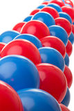 Red and Blue balloons. Red and Blue balloon background at a party Stock Image