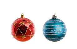 Red and blue balls of Christmas Royalty Free Stock Photography