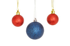 Red and blue baubles Royalty Free Stock Photo