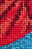 Red and blue beads abstract background Royalty Free Stock Photo