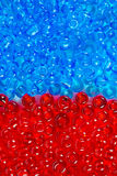 Red and blue beautiful beads Royalty Free Stock Photos