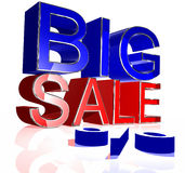 Red blue big sale Royalty Free Stock Image