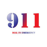 911 Red and Blue. A Big 911 Red and Blue Symbol isolated on a white background Royalty Free Stock Photos