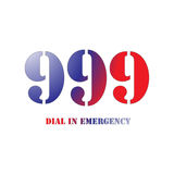 999 Red and Blue Stock Photo