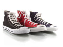 Red,blue and black classic sneakers Stock Image