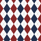 Red and blue with black layered diamond seamless repeating pattern. Stock Photography