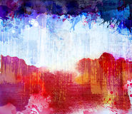 Red and blue blobs Royalty Free Stock Images