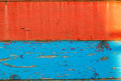 Red and blue boards. Red and blue background boards stock photos