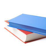Red and blue book composition isolated Stock Images